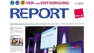 Report Ver- und Entsorgung, Cover Ausgabe 01/2018