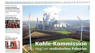 Report aus dem Fachbereich Ver- und Entsorgung, Cover der Ausgabe 03/2018